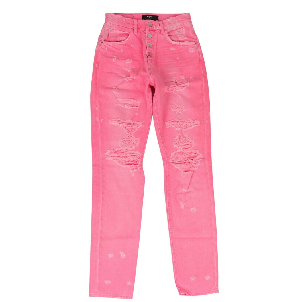 Slouch Destroyed Jeans - Neon Pink