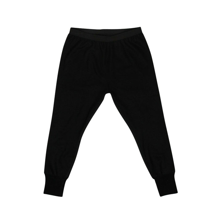 Wool Drop Crotch Classic Jogger Pants - Black
