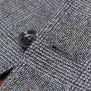 Glen Plaid Wool Two Button 3 Piece Suit - Gray