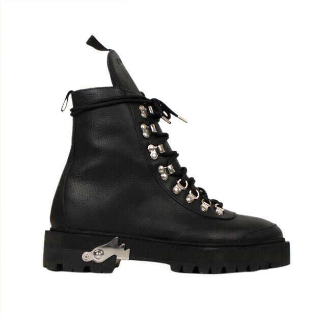 Leather Hiking Boots - Black