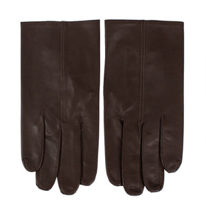 Brown Calfskin Leather Gloves