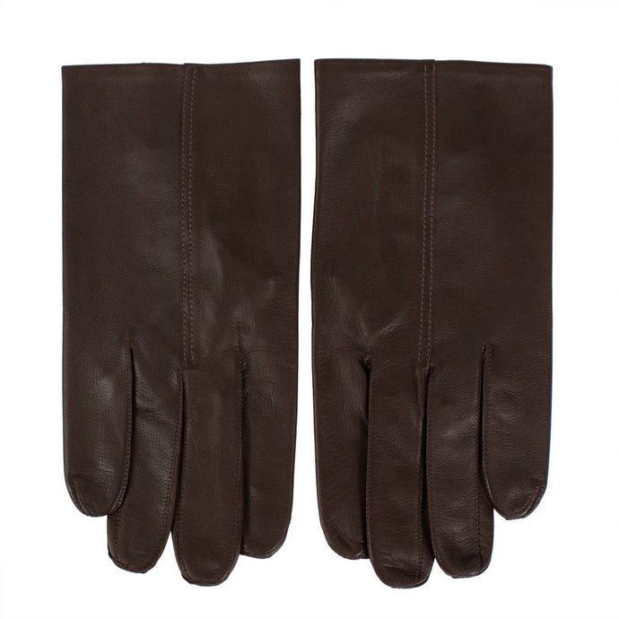Calfskin Leather Gloves - Brown