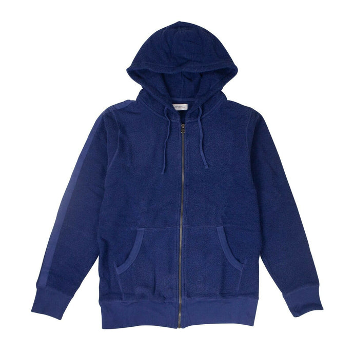 Cotton JP Tape Zip Hooded Sweatshirt - Cobalt Blue
