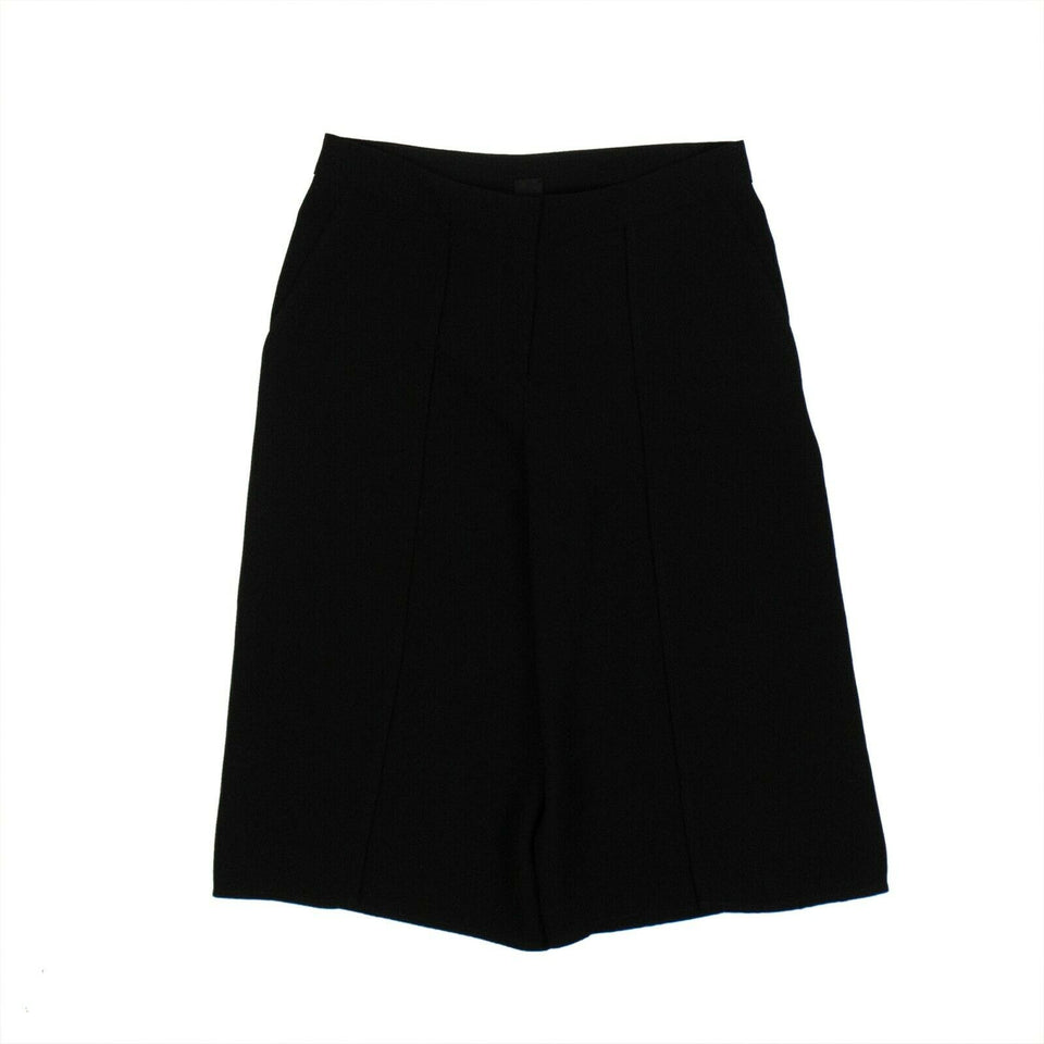 'Pantaloni' Woven Wrap Trouser Shorts - Black