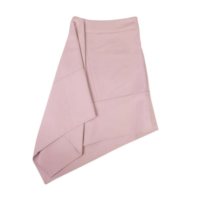 Wool Asymmetric Skirt - Pink