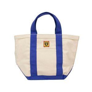 Cotton Canvas Mini Tote Bag - Blue/White