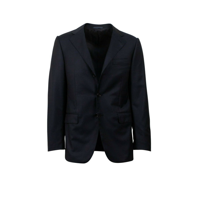 Drop 6 3 Roll 2 Button Wool Sport Coat - Navy Blue