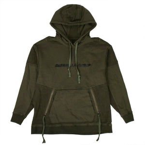 Cotton Logo Hoodie Sweatshirt - Olive Green