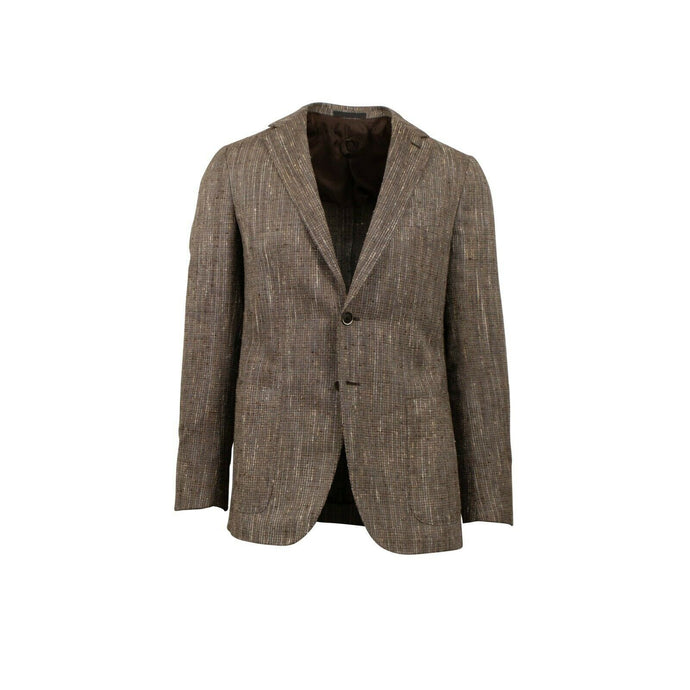 Drop 8 Two Button Tweed Silk Blend Sport Coat - Brown