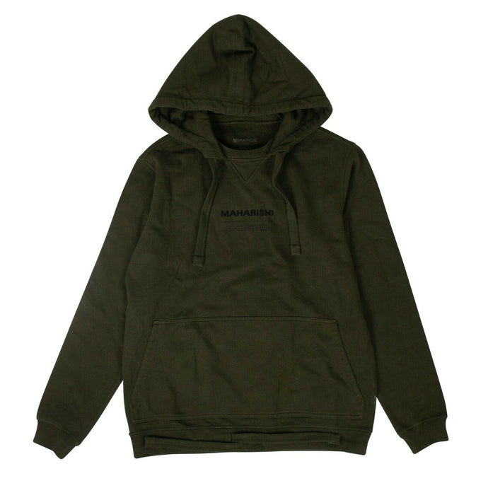 Organic Cotton Miltype Hooded Sweatshirt - Olive Green