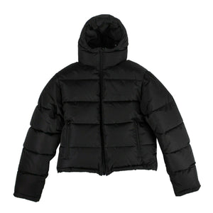Down Hooded Puffer Coat - Black