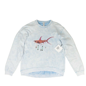 Ashley Bickerton Perfect Pullover Sweatshirt - Acid Blue