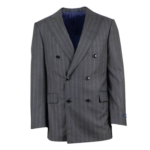 Drop 6 Multi Striped Wool Double-Breasted Suit - Heather Grey