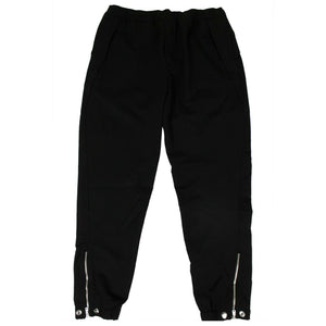 Virgin Wool Staple Jogger Pants - Black