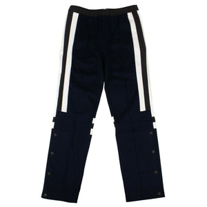Cotton Pieced Jogger Pants - Navy Blue
