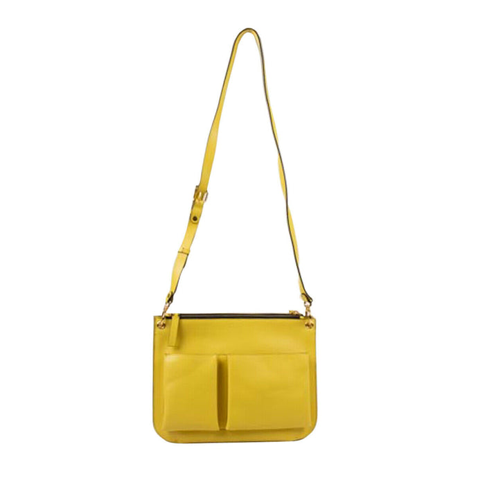Leather Messenger Pouch - Yellow