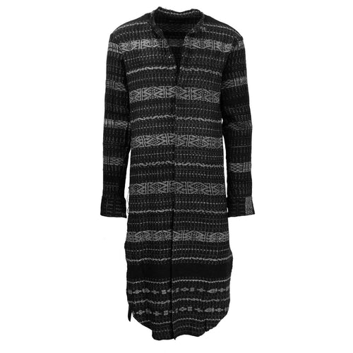 Long Patterned Shirt Dress - Multi