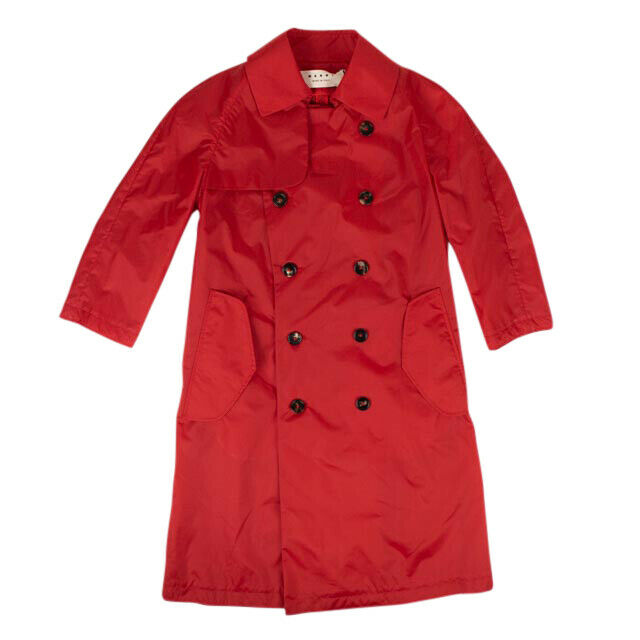 Double Breasted Duster Coat - Red