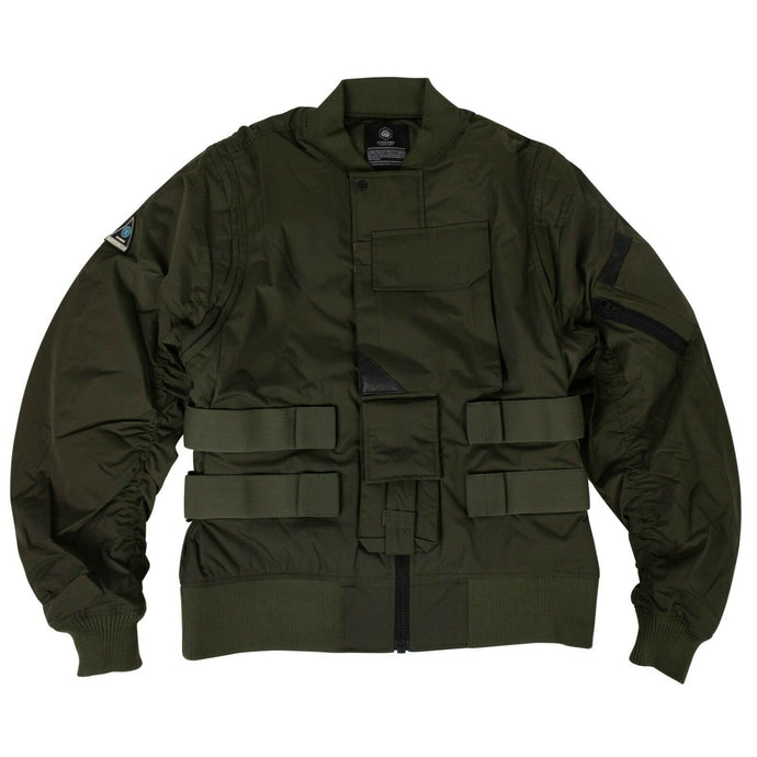 GUERRILLA GROUP x EYES AND SINS Bomber Jacket - Green