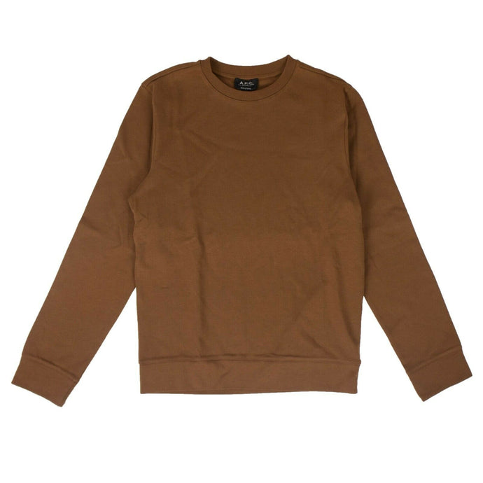 Cotton Jess Crew Neck Sweatshirt - Camel