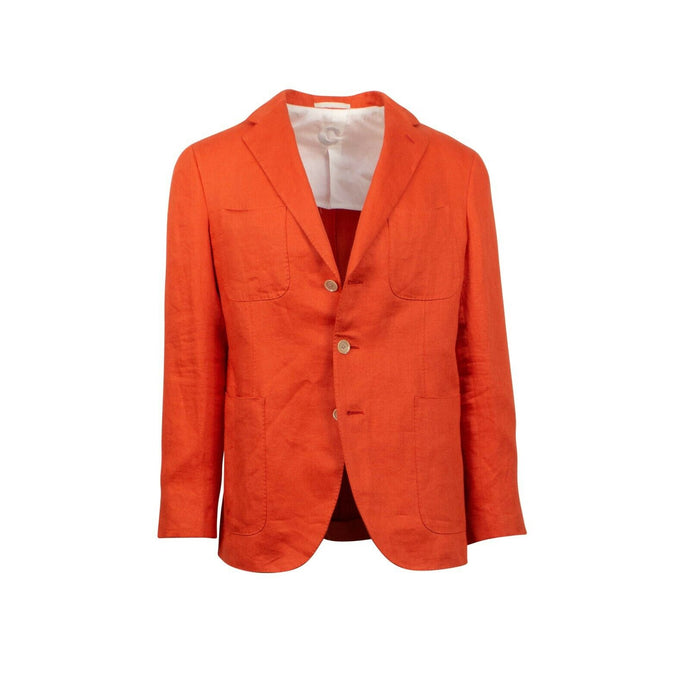 Drop 8 Linen 3 Roll 2 Button Sport Coat - Orange