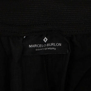 Nylon Wings Barcode Track Pants - Black