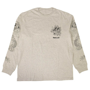 Organic Cotton Stencil Dragon T-Shirt - Gray