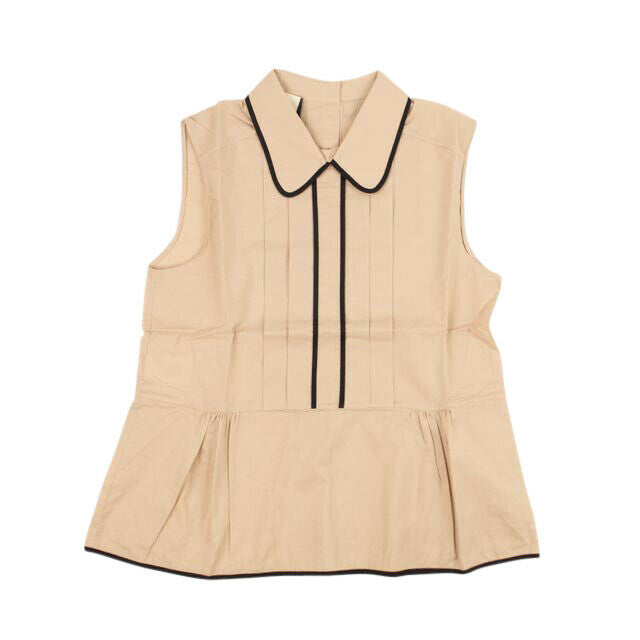 Collared Sleeveless Shirt - Rose Taupe