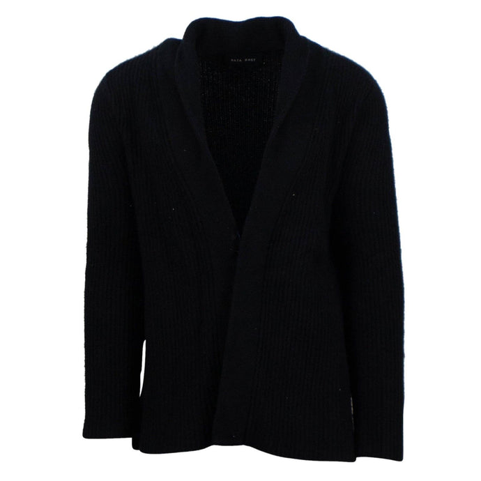 Rib Knit Cardigan - Black