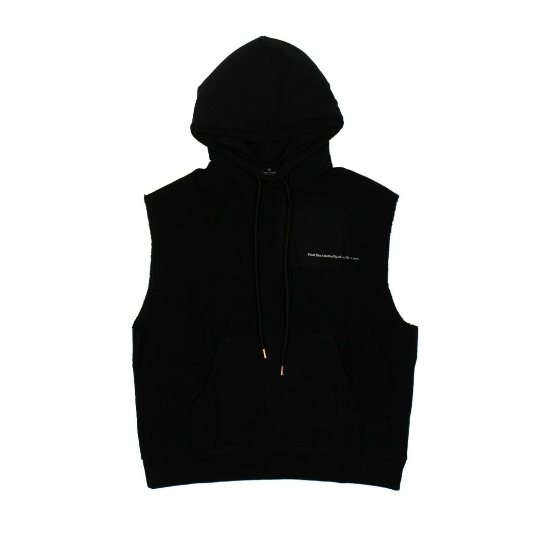 MARCELO BURLON x MUHAMMAD ALI 'Rings' Sleeveless Hoodie - Black