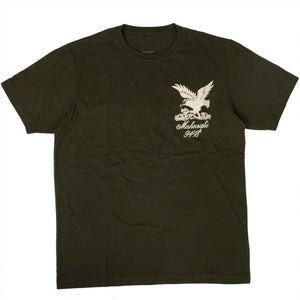 Organic Cotton Maha Eagle Chest T-Shirt - Olive Green