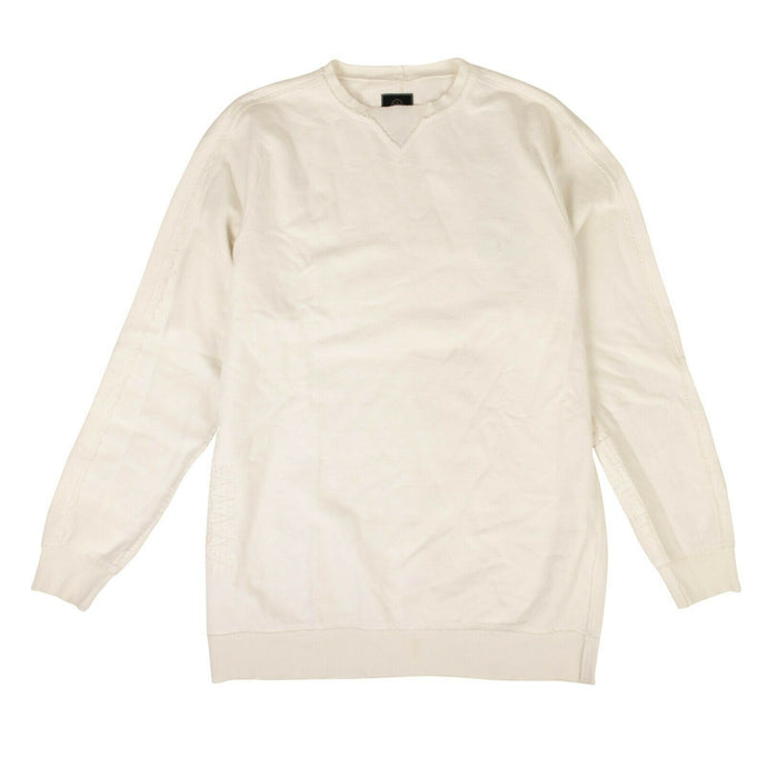 Organic Cotton Boro Crew Sweater - White