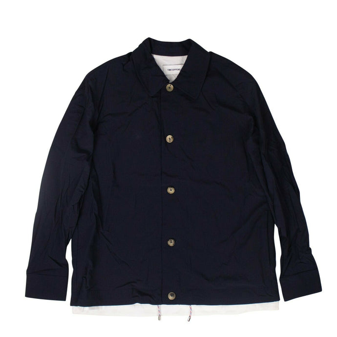 Polyester Tech Coach Jacket - Navy Blue
