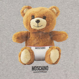 Bear Graphic Print Short Sleeve T-Shirt - Heather Gray