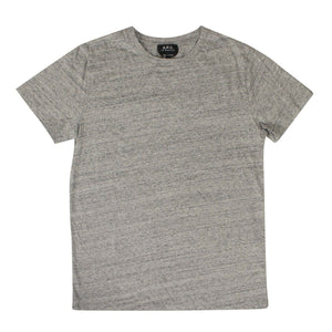 Cotton 'Terry' Short Sleeves T-Shirt - Gray