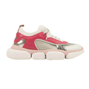 Leather 'Briseis' Logo Sneakers - Pink/White