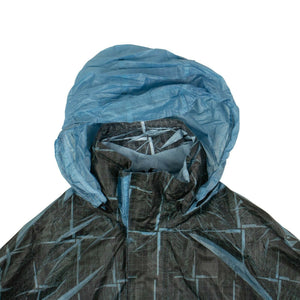 Paper Poly Si House Check Grid Jacket - Blue