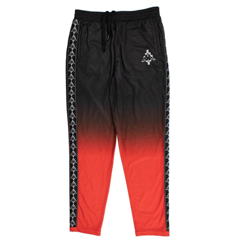 Kappa Logo Stripe Gradient Pants - Black / Red