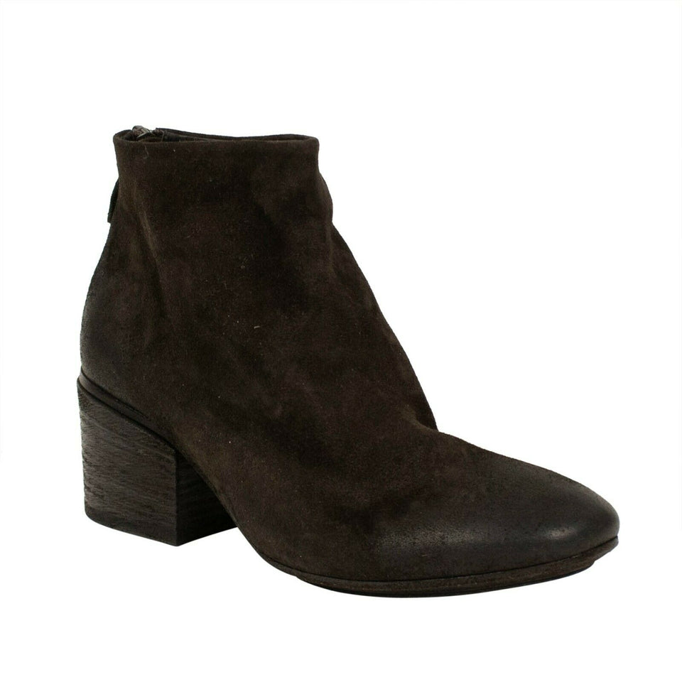 Funghetto Distressed Leather Ankle Boots - Brown