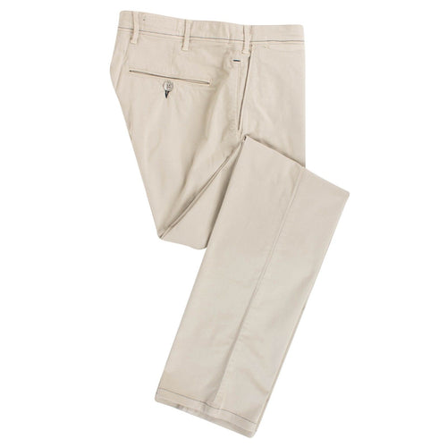 Beige Cotton Blend Pants