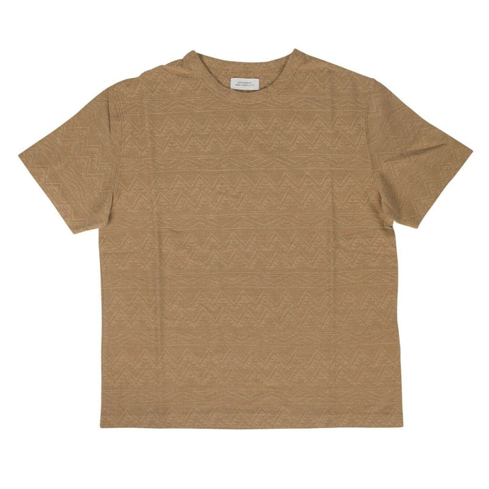 Cotton Elliot Jacquard Short Sleeve T-Shirt - Khaki