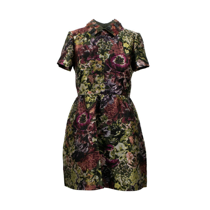 Floral Print Silk Blend Dress - Multi