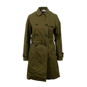 Double Breasted Trench Coat - Olive Green