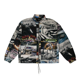Photographic Printed Lightweight Jacket - Multicolored