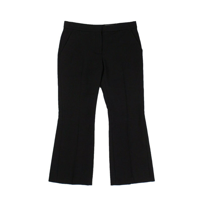 Cropped Flared Pants - Black