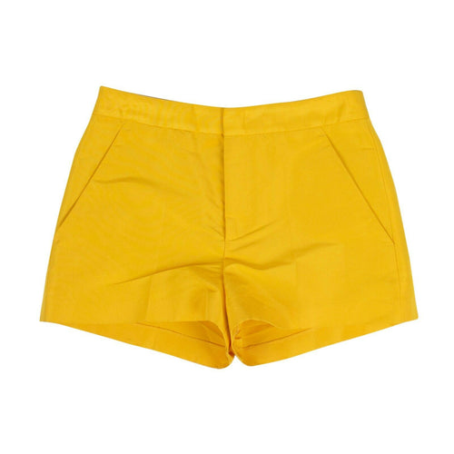 Satin Tailored Shorts - Yellow