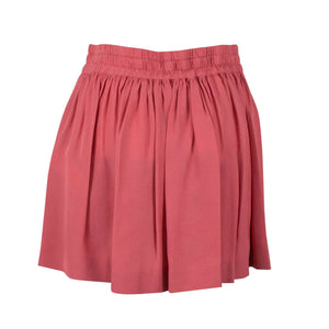 Gathered Elastic Mini Skirt - Pink