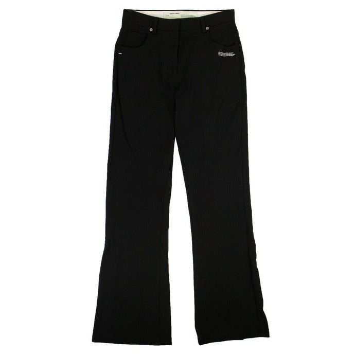 Flared High Waisted Pants - Black