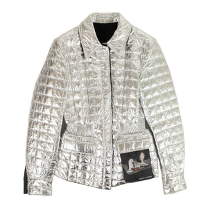 Gathered Waist Jacket - Silver