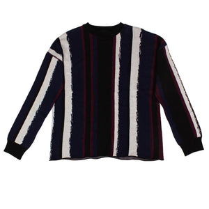 Woodstock Crew Sweater - Black / Red
